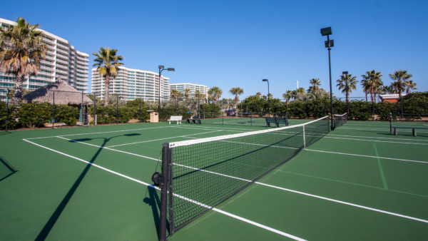 Regulation-sized Tennis Courts
