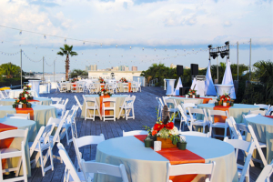 Caribe Resort Outdoor Event Table Setup