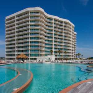 Caribe Resort Tiered Outdoor Pool View