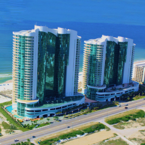 Turquoise Place Towers Aerial View
